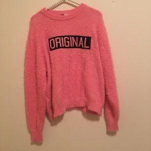 Fuzzy H&M Peach Sweater